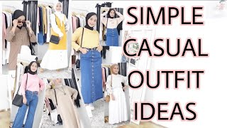10 DAILY OUTFITS FOR HIJAB || SIMPLE HIJAB LOOKBOOK