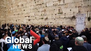 Coronavirus outbreak: Hundreds hold mass prayer at Jerusalem