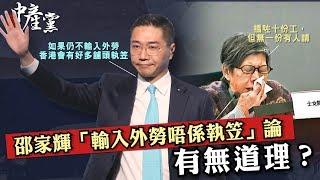 【3個中產黨】邵家輝「輸入外勞唔係執笠」論有無道理?
