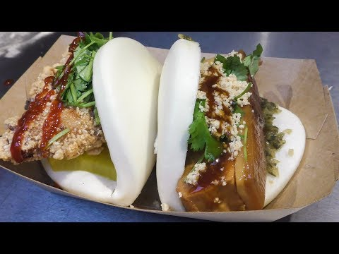Taiwan Style Filled Buns. Chinese Street Food of London Seen and Tasted in Camden Town