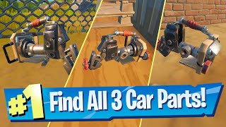 Find Car Parts (All 3 Locations) - Fortnite Week 2 Epic Quest