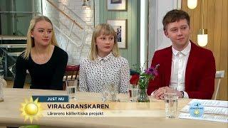 """Elever fick pris: """"Det är så lätt att skriva falska nyheter"""" - Nyhetsmorgon (TV4)"""