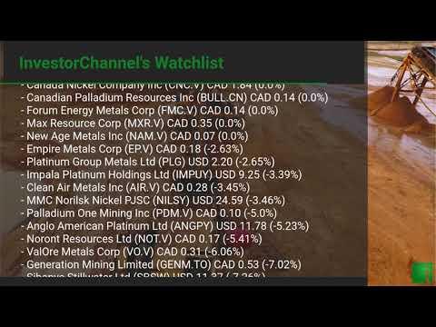 InvestorChannel's Palladium Watchlist Update for Monday, S ... Thumbnail