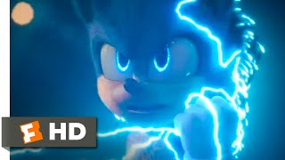 Sonic the Hedgehog - Super Sonic: Sonic (Ben Schwartz) hits light speed in fighting Robotnik (Jim Carrey). BUY THE MOVIE: https://www.fandangonow.com/details/movie/sonic-the-hedgehog-2020/MMV86A0A6B21209778FA7F2D279904CEF1C8?cmp=Movieclips_YT_Description  Watch the best Sonic the Hedgehog scenes & clips: https://www.youtube.com/playlist?list=PLZbXA4lyCtqoLaVXO2tOJdKIDmrg_-6Zb  FILM DESCRIPTION: Sonic tries to navigate the complexities of life on Earth with his newfound best friend -- a human named Tom Wachowski. They must soon join forces to prevent the evil Dr. Robotnik from capturing Sonic and using his powers for world domination.  CREDITS: TM & © Paramount Pictures (2020) Cast: Ben Schwartz, James Marsden, Jim Carrey, Tika Sumpter Director: Jeff Fowler Screenwriter: Josh Miller, Pat Casey  Watch More: ► Fresh New Clips: http://bit.ly/2taDWqW ► Classic Trailers: http://bit.ly/2qTCxHF ► Hot New Trailers: http://bit.ly/2qThrsF ► Clips From Movies Coming Soon: http://bit.ly/2FrP8VL ► Indie Movie Clips: http://bit.ly/2qTZMRE ► Deleted Scenes: http://bit.ly/2ARbLPJ ► Bloopers: http://bit.ly/2qYmBnc ► Celebrity Interviews: http://bit.ly/2D4tzw4  Fuel Your Movie Obsession:  ► Subscribe to MOVIECLIPS: http://bit.ly/2CZa490 ► Watch Movieclips ORIGINALS: http://bit.ly/2D3sipV ► Like us on FACEBOOK: http://bit.ly/2DikvkY ► Follow us on TWITTER: http://bit.ly/2mgkaHb ► Follow us on INSTAGRAM: http://bit.ly/2mg0VNU  The MOVIECLIPS channel is the largest collection of licensed movie clips on the web. Here you will find unforgettable moments, scenes, and lines from all your favorite films. Made by movie fans, for movie fans.