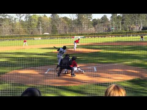 Hunter Smoak-SP WP-Inning 1 of 3 Raleigh Hawks Varsity Baseball vs Ravenscroft 03222016