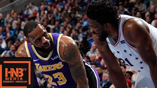 Los Angeles Lakers Vs Philadelphia Sixers Full Game Highlights | 02102019 NBA Season