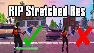 Why Epic Is Banning Stretched Resolutions   The End Of Stretched Res (Fortnite Battle Royale)