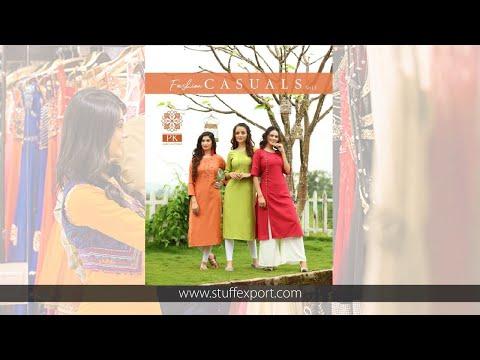 Aradhna Fashion Pk Casuals Vol-1 Straight Pattern Rayon Kurti Catalog