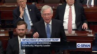 Senate Majority Leader Mitch McConnell on Articles of Impeachment