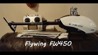 First flight FW450 Heli footage from Eachine TX06 25mw fpv camera Poor quality