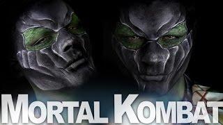 Mortal Kombat X Reptile Makeup Tutorial  | AlexFaction