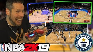 Playing 3 NBA 2K19 games at the same time! WORLD RECORD