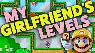 Super Mario Maker - MY GIRLFRIEND'S LEVELS! - Showcase
