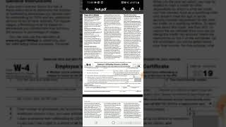 How to fill out From W-4| Single with No Children  2019