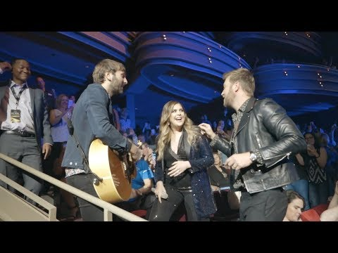 """Lady Antebellum Perform """"What If I Never Get Over You"""" Amongst Fans"""