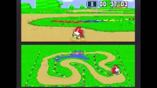 "Super Mario Kart (NTSC) Time Trial : Donut Plains 1 (DP1) - 13""28 NBT (World Record)"