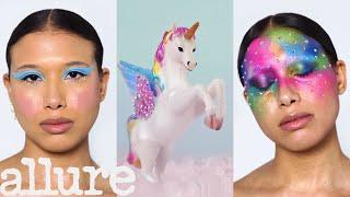 3 Makeup Artists Turn A Model Into A Unicorn | Triple Take | Allure