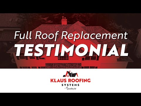 Full Roof Replacement Testimonial In Brick,...