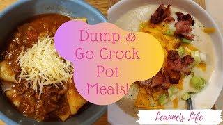 Dump & Go Crock Pot Meals | Quick & Easy Crock Pot Recipes | Leanne's Life