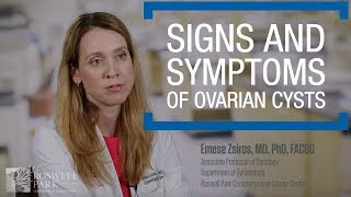 Signs and Symptoms of Ovarian Cysts