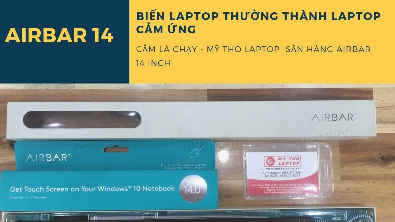 Đánh giá Airbar 14 - Thanh chạm trên không - Biến laptop thường thành laptop cảm ứng