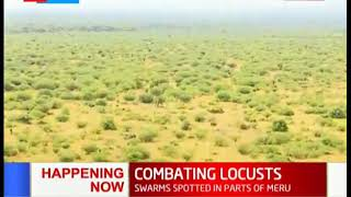 Government conducts aerial survey in Meru following locust invasion in the area