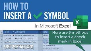 ✔ How to Insert a Check Mark (Tick Symbol) in Excel