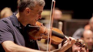 Brahms - Concerto pour violon - Gil Shaham (répétition)