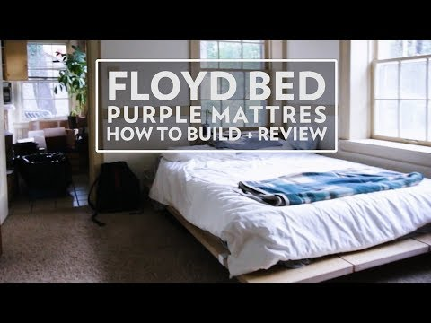 How to: Floyd Bed and Purple Mattress + Review (Not Sponsored)