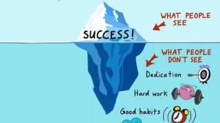 Si el éxito fuese un iceberg esta es la parte que no
