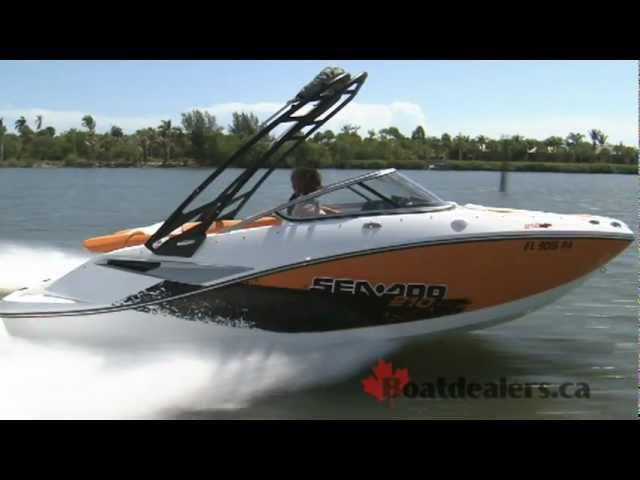 2012 / 2011 Sea-Doo 210 SP Sport Boat / Jet Boat Review