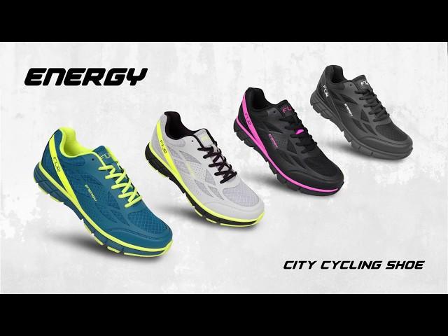 Видео Велотуфли FLR Energy черно-неоново желтые