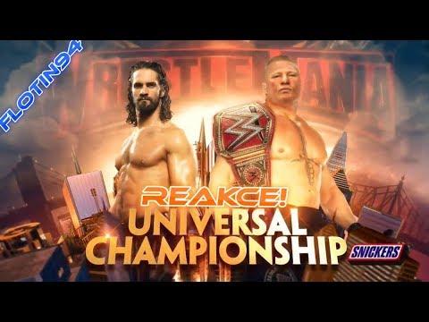 Wrestlemania 35 - Universal Title Brock Lesnar vs Seth Rollins REACTION
