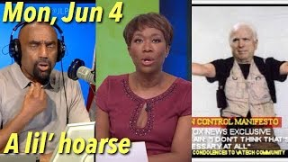 Jun 4: Stop Apologizing! Left Doesn't Care About What's Right. Joy Reid. Samantha Bee. Antifa.