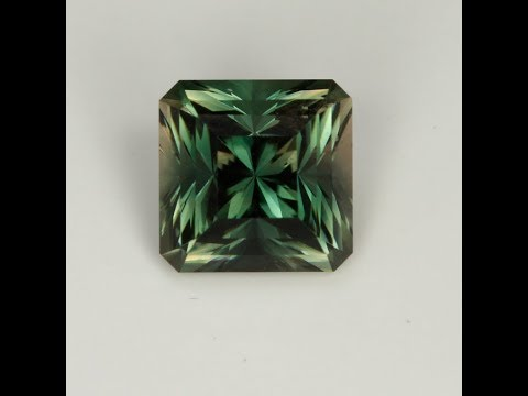 Green Oregon Sunstone 4.82 Carat Square Barion Cut