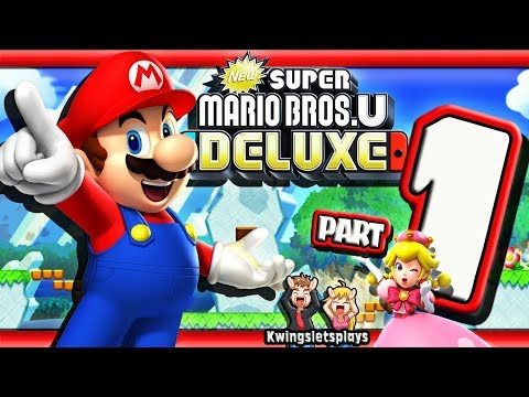 New Super Mario Bros U Deluxe Walkthrough by kwingsletsplays