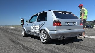 850HP VOLKSWAGEN GOLF 2 4Motion VR5 Turbo! 0-290KM/H ACCELERATIONS!