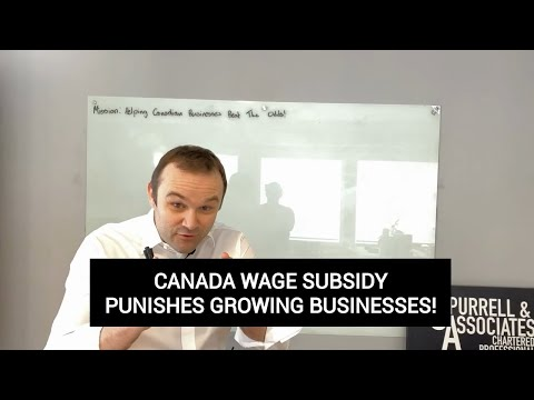 Canada Wage Subsidy Punishes Growing Businesses | Edmonton Business Consultant