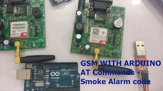 GSM WITH ARDUINO - AT Commands Step by Step - Smoke Alarmcode
