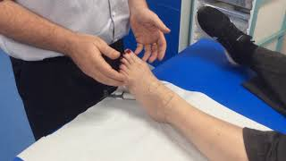 How to check for the dorsalis pedis & anterior tibial pulse with a Doppler