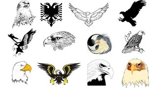 How To Draw Eagle Tattoo | Eagle Tattoo | Eagle Tattoo Traditional