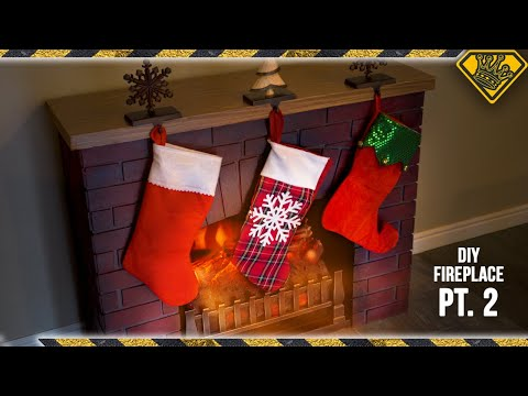 How To Finish Your Foam Fireplace (Pt. 2/2)
