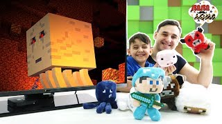 ОТ НУБА ДО ПРОФИ - АЗЫ МАЙНКРАФТА! Папа Роб и Ярик в школе Minecraft! Сборник