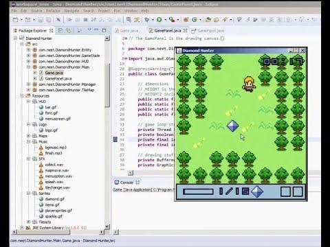 Game  'Diamond Hunter ' JAVA  لعبة صائد  الماس مفتوحة المصدر بلغة الجافا