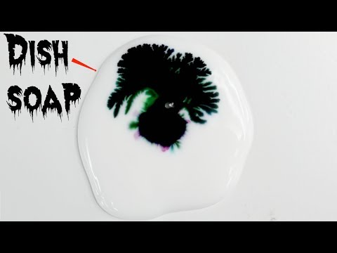 Glue Food Coloring And Dish Soap Experiment ~ Incredible Science #glue #diy