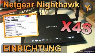 Einrichtung & Funktionen: Netgear Nighthawk X4S R7800 / AC2600 MU-MIMO WLAN Router