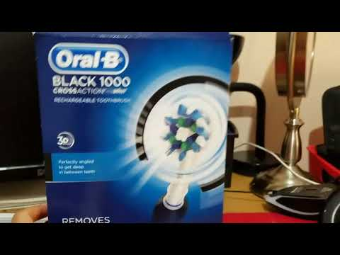 Oral-B black 1000 rechargeable toothbrush