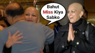 Sonali Bendre CRY After Meeting Her Family After Cancer Treatment