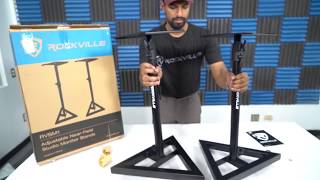 How to Assemble the  Rockville RVSM1 Studio Monitor Stands TUTORIAL