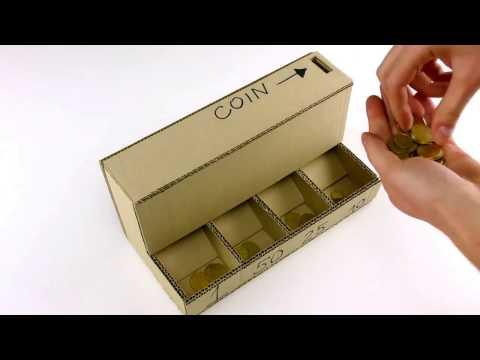 DIY: separa monete in Cartone - facile e veloce! Coin Sorting Machine